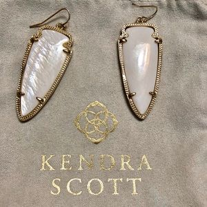 Kendra Scott Skylar Earrings Gold Mother of Pearl